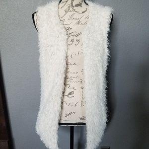 Guess Faux Fur Open Cardigan
